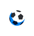 soccer football ball icon in flat style soccer vector image