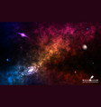 space background realistic cosmos with stardust vector image vector image