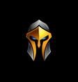spartan helmet logo on black vector image