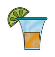 tequila shot drink vector image