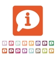 The information icon Info and faq symbol Flat vector image vector image