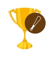 trophy cup winner sport vector image