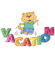 Vacation vector image vector image