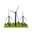 wind turbines in forest icon image vector image vector image
