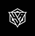 ya logo monogram with triangle and hexagon shape vector image vector image