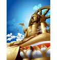 Big buddha vector image