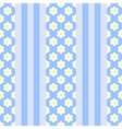 vertical stripes with flowers patterb vector image