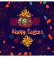 Happy Easter letteringColorful background vector image