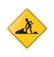 warning under construction repair sign vector image