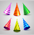 birthday party hat set collection vector image