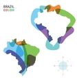 Abstract color map of Brazil vector image