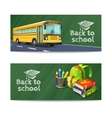 Back To School Banners Set vector image