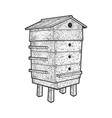 beehive sketch vector image vector image