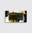 black white and gold business card template vector image
