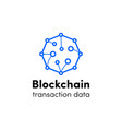 blockchain logo cloud cryptocurrency icon vector image