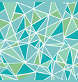blue green geometric mosaic triangles vector image vector image