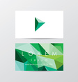 Business Card Stationary Template vector image vector image