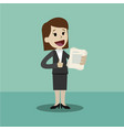 businesswoman has a lot of jobs job is finished vector image vector image