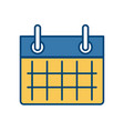 calendar event sheet vector image