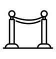 Ceremony barrier icon outline style