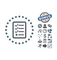 Checklist Flat Icon With Bonus vector image vector image