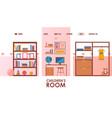 children room furniture store website vector image