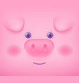 close up of piglet face with eye ear snout on vector image