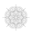 Coloring Book Mandala Circle lace ornament round vector image vector image
