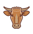 cute cow portrait symbol farm animal food vector image vector image