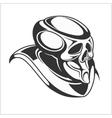 Cyborg - Robot skull vector image vector image
