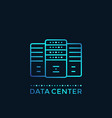 data center server room hosting vector image