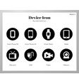 device icons rounded solid pack vector image