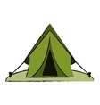 drawing tent equipment camping activities vector image vector image