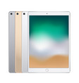 electronic tablets of different colors silver vector image