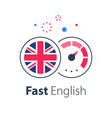english language learning express course vector image