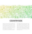 farm countryside line template vector image vector image