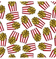 Fast food french fries seamless pattern