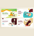 food and drink web page design templates vector image vector image