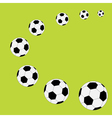 Football soccer ball frame Flat design style vector image