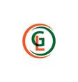 gl company logo template design vector image vector image