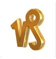 Golden zodiac sign Capricornus vector image vector image