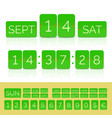 green flat countdown timer with numbers and vector image vector image