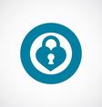 heart lock icon bold blue circle border vector image vector image