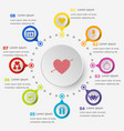 infographic template with valentines icons vector image vector image