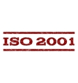 ISO 2001 Watermark Stamp vector image vector image