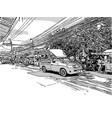 ketch city life vector image vector image