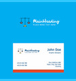 libra logo design with business card template vector image