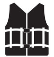 life vest icon on white background life vest vector image