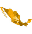 Mexico contour map vector image