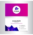 modern media agency business card template vector image vector image